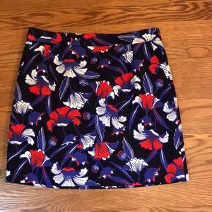 J. Crew size 4 floral mini skirt